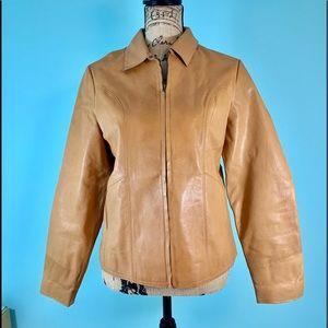 Gap Brown Leather Coat 707